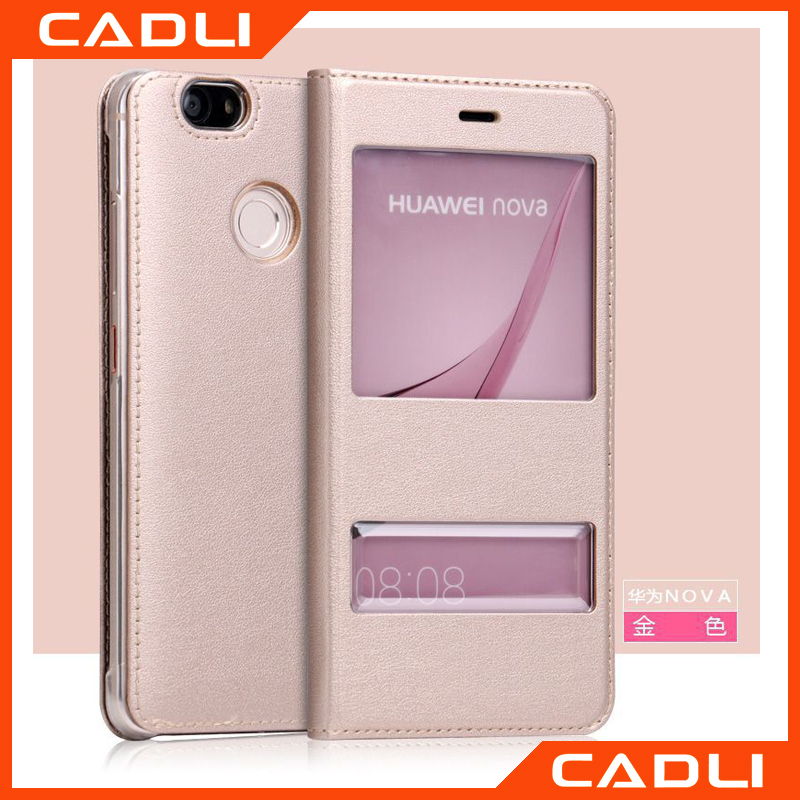 For HUAWEI nova 2016 Luxury Case Smart Front Window View Leather Flip Cover Phone Cases
