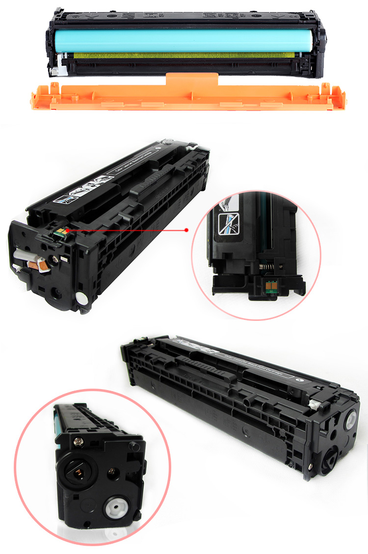 CB540A compatible color toner cartridge for HP Coler Pro CM1415fn/CM1415fnw/ Pro CP1525