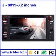 For Toyota car dvd player dvd player car dvd 8819 6.2 inch GPS+DVD+Radio+BT+AUX in/out+1080P Video Playback+Steering Wheel
