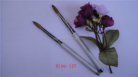 Factory Directly Nail Brush 100% Kolinsky Hair And Round Shape Acrylic Brush For Nail Tool For Cosmetic Product