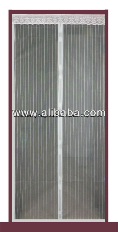 Magnetic screen doors close automatically bug mesh screen door
