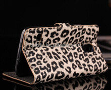 Leopard Leather designer mobile cell phone case for galaxy s5