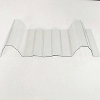 50 Micron UV - Protection Polycarbonate clear Plastic Corrugated Sheets For Wall