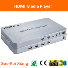 4 port 3d 4Kx2K HDMI hd android media player box with the HDR function