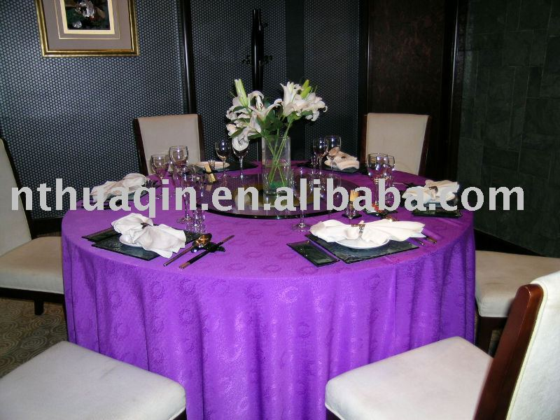 Round table cloth, polyester tablecloth