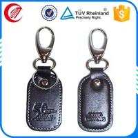OEM make leather key ring with logo embossed