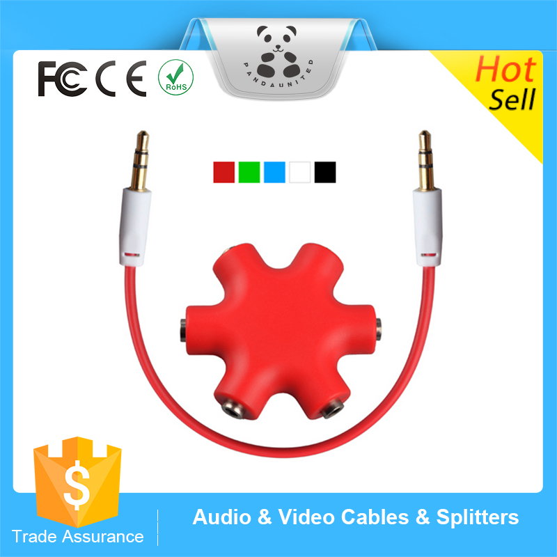 Promotional 3.5mm Stereo Audio Headphone Splitter Cable Headset Hub Adapter for MP3/4Mobile Phone DVD Player