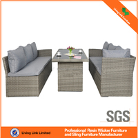 Outdoor rattan garden furniture sectional sofa set