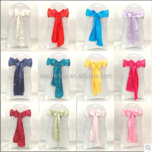 Wholesale Chair Cover Ribbons Wide Satin Sashes for Event Wedding