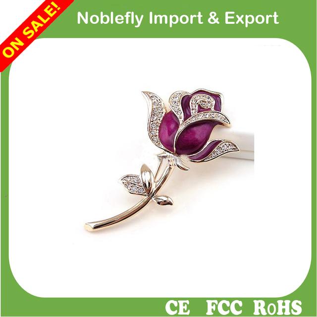 Jewelry rose shape usb flash drive, Luxury Promotional Gifts diamond rose usb stick