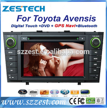 2 din car radio dvd audio navigation system for Toyota avensis with gps