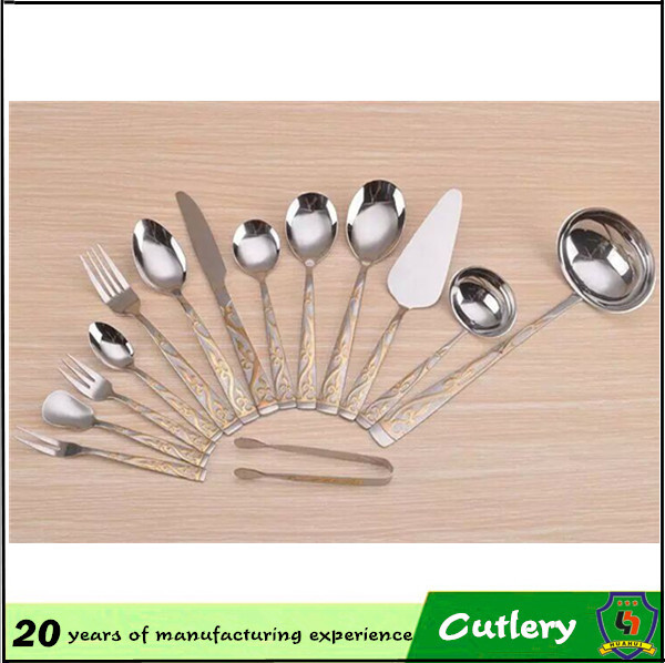 fork & soup spoons & knife main dinner NO MOQ! sample free! stainless steel hotel cutlery/golkorean design cutleryHH-spoon-139)