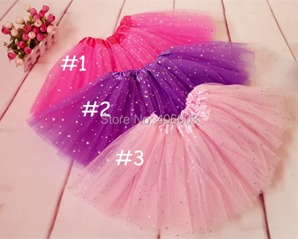 2014 new style cheap star glitter children ballet tutu skirts