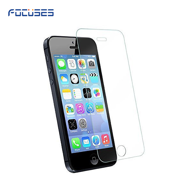 usa Hot Selling 0.26mm For apple iphone 5 5s 5c Explosion-Proof Tempered Glass Screen Protector Film 9H Tempered Glass