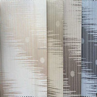 3 pass pvc coated blackout jacquard fabric for curtain