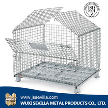 Heavy duty galvanized iron mesh wire basket cage for cargo and storage