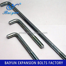 chemical anchor bolt hot dip galvanized L type Foundation Anchor bolt carbon steel anchor bolt L