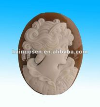 Lady loose resin cameos fugure , polyresin cameos