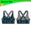 (Factory OEM/ODM) Yoga wear active bra with support strappy back, girls sexy sports and yoga bra