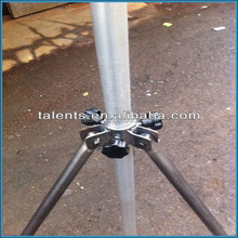 telescoping tv antenna mast with the tripod,mast high up to 10m