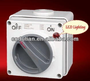 IP66 500V 3P 63A electrical industrial rotary action waterproof outdoor light switch