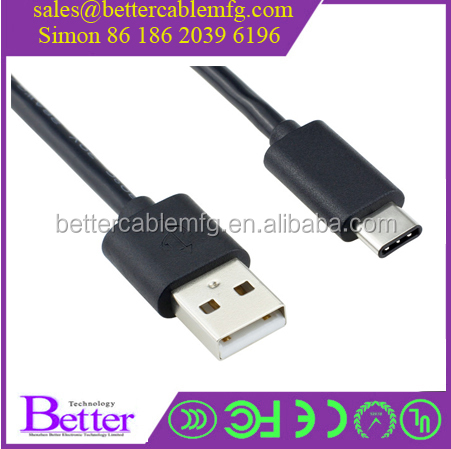 USB 3.1 Cable Type C to USB 2.0 Data Cable for Apple New Macbook , Nokia N1, Tablet