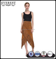 Latest Design Fringed Long Maxi Skirt for Women