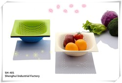 Food grade plastic colorful fruit & vegetable colanders