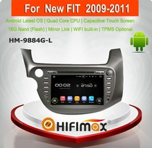 Hifimax Android 5.1.1 car dvd gps for honda fit Jazz/car multimedia player for honda fit Jazz Left Hand Drive (2009-2011)
