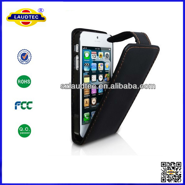 Luxury Leather Flip Cover for Apple iPhone 5 Cell Phone Accessories Case For iPhone5 5G