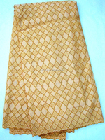 P709-1 plain gold color swiss voile lace fabric embroidery wholesale