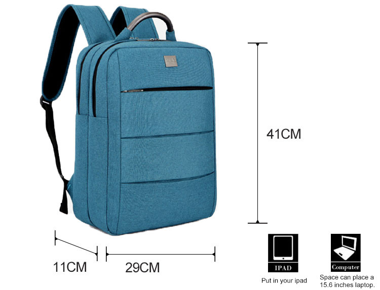 Adjustable shoulder strap with laptop bag simple and high grade laptop backpack for macbook