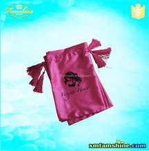 promotional cheap silk drawstring bags for hair