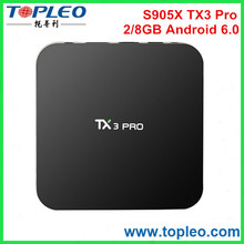 Android 6.0 Marshmallow TV BOX TX3 Pro Amlogic S905X 1G/8G Kodi 16.1 Quad Core Android Set-Top Box