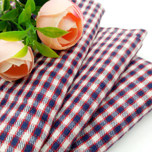 Wholesale 100 cotton yarn dyed poplin plaid shirting double face fabric