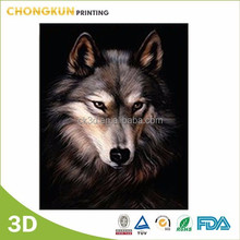 Lenticular wolf 3d picture