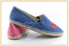 Women no lace casual espadrilles canvas handmade shoes