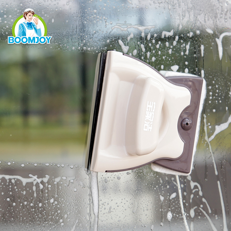 BOOMJOY Quick clean double sides window cleaner for 3-8 mm thick glass/magnetic window squeegee