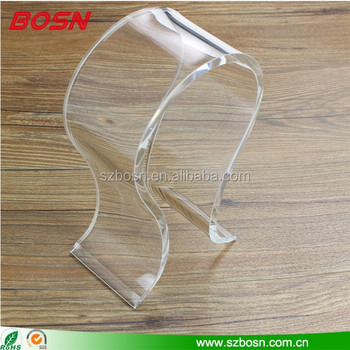 Wholesale Clear Acrylic Headset Display, Acrylic Headphone Stand, Acrylic Headset Stand Holder