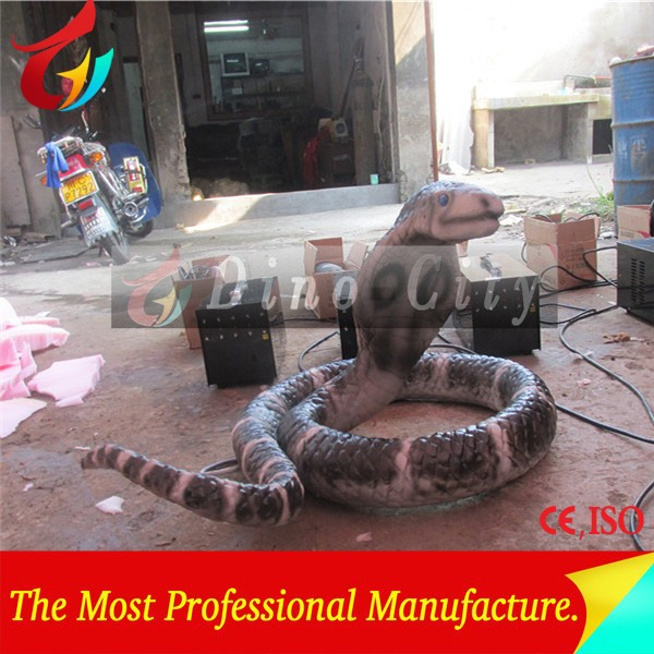 Amusement Park Life Size Animatronic Snake Model