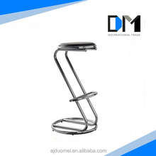 Z shaped antique metal industrial bar stools for Sale