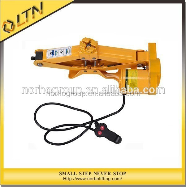 High Quality CE GS TUV Approved 1-2 Ton Electric Scissor Screw Jack/Mini Lifting Jacks