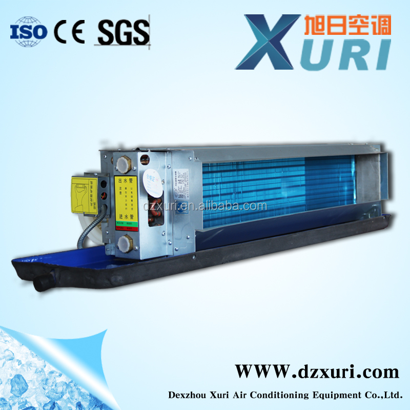 Xuri horizontal concealed fan coil unit FP-102WAJ hot water fan coil unit chilled water cetral air conditioner fan coil unit