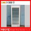 Elegant white decorative manual operated aluminum window Glass shutter with window design