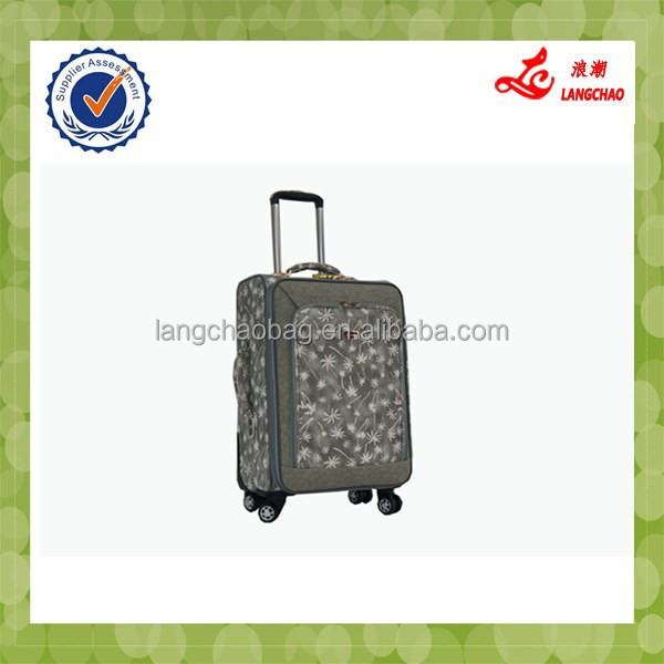 2014 promotion sale leather carry on luggage