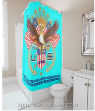 American eagle Shower Curtain,Flag style short shower cutain T37