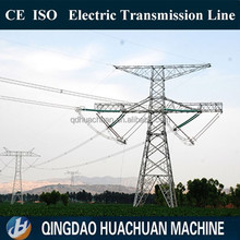 Advanced configuration 3/4L angular/ tubular power transmission tower , hot dip galvanization electric poles