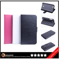 Keno Genuine Leather Wallet Flip Cover Mobile Phone Case for Lenovo 750