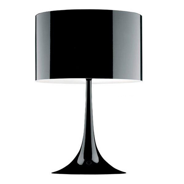 custom design black decorative bed side metal table lamp in china
