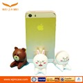 Wholesale Custom made durable cute bear shape silicone mobile ring holder for smart phone